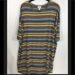 LuLaRoe Irma Multicolored Striped High/Low Dress